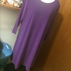"Sweet NWOT Purple Knee Length Dress. 40"" Total $3,$4,$5 ITEMS MUST BE BUNDLEDPrices in this Closet are LOW AND FIRM. No bargaining needed Makes it so much easier to just offer low low prices from the start ASK ALL THE QUESTIONS YOU WANT BEFORE PURCHASING. Trade Value $5 more than marked price Effortless Style Dresses Midi"