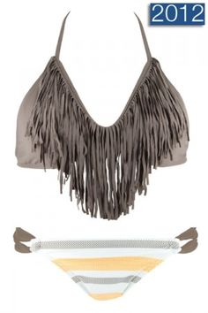 Audrey Taupe Fringe Bikini  Don't think I could pull it off, but soo cute!