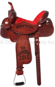 Double J Pro Barrel Racer Trophy Saddle.