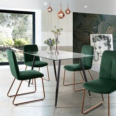 Dining Table Sale, Glass Dining Room Table, Modern Dining Table, Dining Table Chairs, Dining Room Furniture, Modern Apartment Decor, Apartment Design, Apartment Ideas, Industrial Living