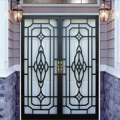 Steel   Fiberglass Exterior Doors To modern  complement any style home  complete with matching sidelites and choice For additional security Patio Security Doors  Security doors for sliding glass doors   My  . Residential Security Doors Exterior. Home Design Ideas