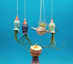 Narwhal, Unicorn of the Sea, Hanging Planter, Air Plants, Succulents, Mother's Day by CindySearles on Etsy