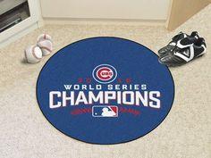 """Chicago Cubs 2016 World Series Champions Baseball Mat 26"""" diameter"""