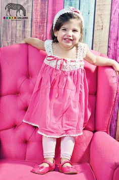 Pink dressorganic  cotton fabric with crochet by canselda on Etsy, $26.00