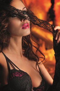 #lingerie #pink #purple #mask #Cotton Club