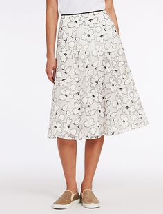 Embroidered organza skirt