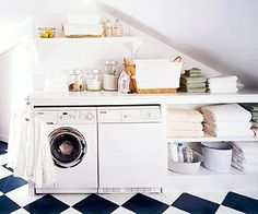 A perfect little laundry space!