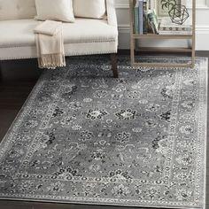 Safavieh Vintage Dark Grey/ Light Grey Rug (8' x 10') - 17689427 - Overstock - Great Deals on Safavieh 7x9 - 10x14 Rugs - Mobile
