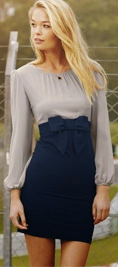 love this bow front skirt! I wish it was a little longer tho!