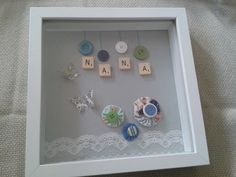 Handmade personalised frame for a special Nana. by Handiecrafties