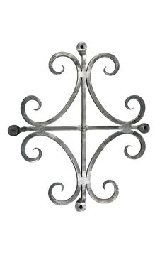 "Wrought Iron Scrolled Speakeasy - 400SC 3 Finishes Grill 10 1/2"" x 15"" cc Projection 1 3/8"" Design Area 10"" x 14 3/8"" Shown in Antique Burnish 3 Finishes"