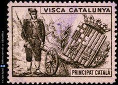 Temes-Visca Catalunya :: Segells del Pavelló de la República (Universitat de Barcelona) Balearic Islands, Vintage World Maps, Spain, Sevilla Spain, Spanish