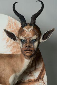 Was will uns diese Künstlerin mit menschlichen Gesichtern auf ausgestopften Tieren sagen?   The Creators Project
