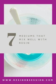 mediums that work well with resin - diy resin painting techniques Diy Resin Art, Diy Resin Crafts, Acrylic Resin, Acrylic Pouring, Diy Art, Acrylic Art, Wood Crafts, Fun Crafts, Resin Pour
