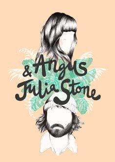 Angus & Julia Stone Art Print