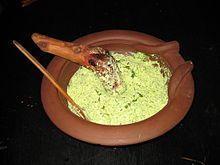 Moretum, queso con hierbas romano.