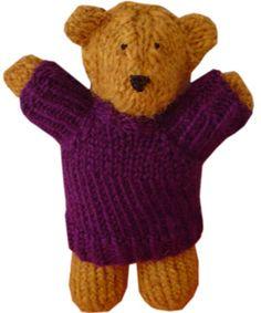 Two Hour Teddy Bear Free Knitting Pattern | Favorite Bear Knitting Patterns including Teddy Bears, Paddington Bear, Koala Bear - many free patterns