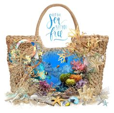 """Sea Colors On My Bag"" by maitepascual ❤ liked on Polyvore featuring art and holdontothatbag"