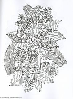 Creative Coloring Botanicals Adult Coloring Book by Valentina Harper – Kay's Crochet Patterns
