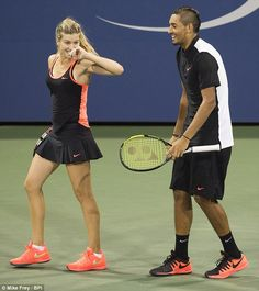 'It was super fun, he's just a really funny guy - I was laughing like the whole time', Genie Bouchard said after the game Tennis Pictures, Tennis Wear, Eugenie Bouchard, Horrible People, Sports Celebrities, Double Team, First Round, Turkish Beauty, Got The Look