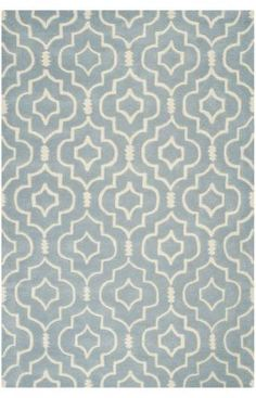 """Safavieh Chatham CHT736 Blue Ivory Rug Material: 100% Wool Weave: Hand Tufted Available in the following sizes: 2' x 3', 3' x 5', 4' x 6', 5' x 8', 6' x 9', 8' x 10', 8' 9"""" x 12', 7' Round and 2' 3"""" x 7' Clean & Care: Vacuum regularly as new wool rugs can shed yarn fibers for up to three months. Avoid direct and continuous exposure to sunlight. Do not pull loose ends, clip them with scissors to remove. Clean liquid spills immediately by blotting with cloth or sponge.  $576.00"""