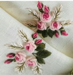 Bullion Embroidery, Floral Embroidery Patterns, Hand Embroidery Videos, Embroidery Stitches Tutorial, Embroidery Flowers Pattern, Hand Embroidery Designs, Ribbon Embroidery, Creative Embroidery, Brazilian Embroidery