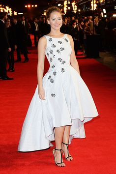 Jennifer Lawrence - Christian Dior | I love this high-low dress so much!