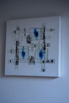 Fused Glass Panel: Abstract & mixed media by Leigh Ellen Williams