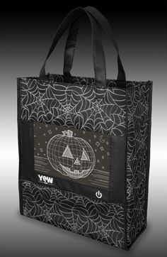 Be seen and Trick or Treat in style with the YEW Stuff POP Lights Pumpkin Halloween Trick or Treat Bag. Attention grabbing LEDs light up and frame the front of this Jack-O-Lantern Halloween candy tote bag and ensure you are seen! Seven color settings allow you to show off your favorite color, or you can select color-changing mode. A sturdy, roomy deep compartment gives you plenty of space to carry all your Halloween goodies and tasty treats. Halloween Goodies, Halloween Trick Or Treat, Halloween Candy, Baby Halloween, Halloween Pumpkins, Halloween Ideas, Party Prizes, Pumpkin Lights, Trick Or Treat Bags