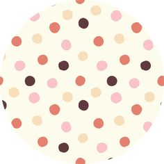 "Birch Organic Fabrics, Mod Basics 3, KNIT, Pop Dots Girl  Fabric is sold by the 1/2 Yard. For example, if you would like to purchase 1 Yard, you would enter 2 in the Qty. box at Checkout. Yardage is cut in one continuous piece.  Examples:  1/2 yard = 1 1 yard = 2 1 1/2 yards = 3 2 yards = 4   1/2 Yard Measures 18"" x 43""   Fiber Content: 100% Organic Cotton Knit  ***200 gsm  ***Dots measure 1.5"" across***  Hover over image for a larger, better view."