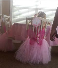 Pretty chairs at a Pinkalicious Party #pinkalicious #party