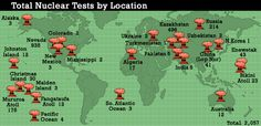 """""""Map of Nuclear Test sites """""""