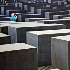 Where is this Holocaust Memorial? In Berlin! The Memorial to the Murdered Jews of Europe is a well known memorial in Berlin to the Jewish victims of the Holocaust. It consists 2,711 concrete blocks. Opened in 2005, this large memorial site (19,000 m2, 4.7-acre) is today one of the must-see places in Berlin. It is estimated that some 3.5 million visitors entered the memorial in the first year it was open, or about 10,000 every day.