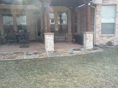 Trophy Club Texas Flagstone Patio Extension By www.c3backyardoasis.com