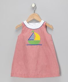 Take a look at this Red Gingham Sailboat Dress - Infant & Toddler on zulily today!