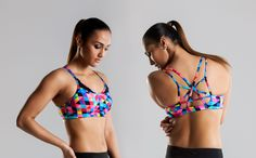Funkita Fit Colour Card Strap In Sports Top
