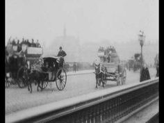 VIDEO: 1896 Cab horses on Blackfriars Bridge, London, as in BLACK BEAUTY by Anna Sewell. Free setting activity template and all kinds of fun teaching ideas & materials at https://litwits.com/black-beauty/  .