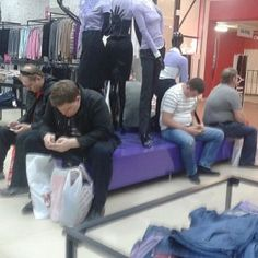 Shopping? These men are done with it! Great collection of photos taken secretly.