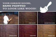 Make Metal Garage Door Look Like Wood Garage Door Ideas