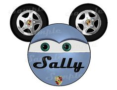 Sally Cars inspired DIGITAL printable DIY Mickey head file