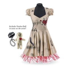 Voodoo-Doll 2-Piece Set - Women's Clothing & Symbolic Jewelry – Sexy, Fantasy, Romantic Fashions