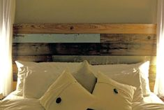 Reclaimed Old Cypress Headboard by TheDesignHome on Etsy, $300.00