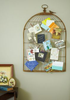 This is a great way to display old keepsakes!! I just have boxes and boxes of memories, I really need to figure out how to display them...    Interest Coop Keepsake Board - Bronze, Vintage Inspired, Dorm Decor, Rustic