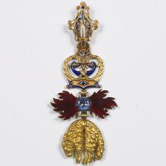 Spain, Golden Fleece Order, badge of Eugène Louis Napoléon Bonaparte, Prince Impérial of France.