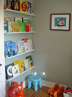 These are the the book ledges that inspired our kids room