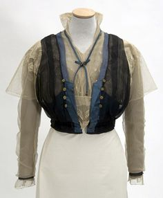 Woman's chiffon and lace waist 1915-1917