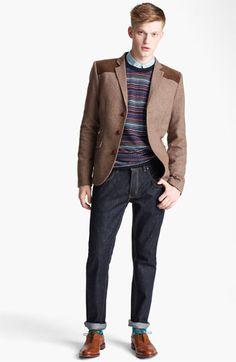 @Topman Blazer, Sweater, Shirt & Skinny Jeans   #Nordstrom #britishStyle