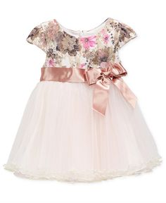 Bonnie Baby Baby Girls' Floral & Mesh Dress