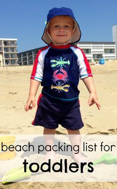 Beach packing list for toddlers! A handy travel guide for your next vacation with a toddler or young kids in tow.