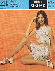 Crochet Dress Pattern PDF Vintage 1960s Dress by HeirloomPatterns
